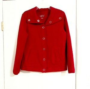 Style & co. Red Quilted Snap Button Down Jacket